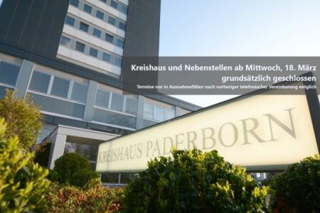 Kreishaus und Nebenstellen ab Mittwoch, 18. März grundsätzlich geschlossen, Foto: Kreis Paderborn