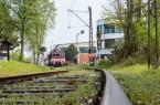 Carlhermann Schmitt) Abfahrt in Bösingfeld - Die E-Lok 22 fährt seit 1927 elektrisch auf der Extertalbahn, Foto: Landeseisenbahn Lippe e.V.