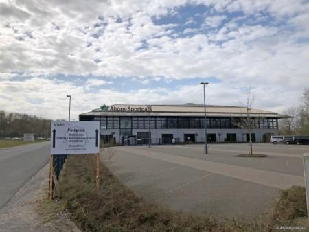 Ab Montag, 6. April startet im Ahornsportpark ein ambulantes Behandlungszentrum für Corona-Patienten. (Foto: © Ahorn-Sportpark)