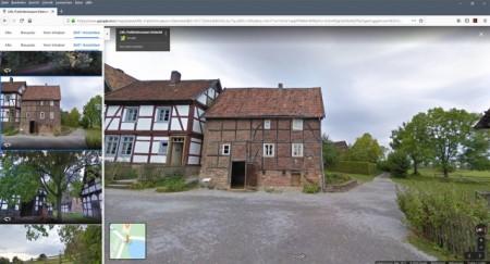 Bei Google können Interessierte das LWL-Freilichtmuseum Detmold virtuell besichtigen. Foto: Google