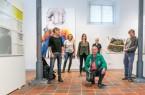 Künstler der Sommerakademie 2020 stellen aus; v. li.: Christina Sauer, Thomas Putze, Ingrid Floss, Ruppe Kosseleck, Vroni Schwegler und Axel Brandt Foto:© Stadt Paderborn