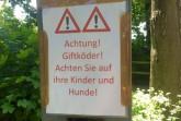 Verdacht auf ausgelegte Giftköder in Paderborn . Foto: Stadt Paderborn
