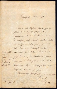 eigenhändiger Brief Dietrich Grabbes