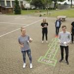 FSJ-Team auf den Lübbecker Schulhöfen kreativ