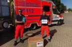 Die Feuerwehr Minden bedankt sich für die großzügige Masken-Spende aus Changzhou (Foto: Berufsfeuerwehr Minden)