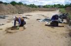 Die Archäologen bei der Arbeit. Foto: Archäologie am Hellweg eG/Küting
