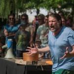 Peter Trabner mit dem 'Tod des Empedokles' bei den Sommermomenten  im Schlosspark