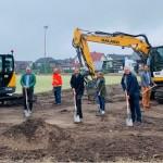 Erster Spatenstich: Umbau am Heidesportplatz hat begonnen