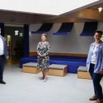 Landrat Dr. Axel Lehmann besucht die Kita des Kinderschutzbundes Lage