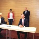 Kaufvertrag  des interkommunalen Gewerbegebiets an der B 513 unterzeichnet