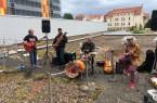 Auf dem Bild sehen Sie v.l. Norbert Fuhrmann, Tristan Bouteiller, Alain Dewerdt und Emmanuel Poliautre Foto: Ewald Gancer