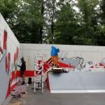 Graffiti ergänzt neue Skate-Anlage in Isselhorst