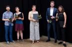 v.l.n.r.: Henry Schaper, Franziska Schaper (1. Preis), Elena Frense (2. Preis), Tobias Titt und Sarah Spannruft (3. Preis) © sh/fsf   Foto: © sh/fsf