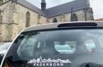Die Paderborn-Silhouette als Aufkleber erfreut sich nach wie vor großer Beliebtheit – innerhalb der letzten vier Jahre fanden insgesamt 60.000 Sticker ihren Weg zu Paderbornerinnen und Paderbornern; eine weitere Auflage in Höhe von 20.000 Stück ist bereits unterwegs.Foto: © Stadt Paderborn