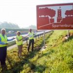 Sparrenburg wirbt jetzt an der A33 für Bielefeld