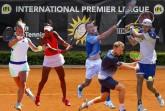 """(Grafik IPL-Spieler_Hogenkamp+Büyükacay+Kohlschreiber+Krawietz+Struff): Die """"International Premier League"""" presented by Merkur ist ein Erfolgsmodell, auch für die nationalen und internationalen Tennis-Asse. In den ersten vier Wochen war HalleWestfalen der Austragungsort, mit dabei waren unter anderem (von links) die Niederländerin Richel Hogenkamp, Cagla Büyükacay aus der Türkei sowie die deutschen Profis Philipp Kohlschreiber, Kevin Krawietz und Jan-Lennard Struff. © Mathias Schulz/matchfotos.de"""