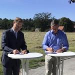 Städtebauliche Vertrag zur Erschließung weiterer Grundstücke unterzeichnet