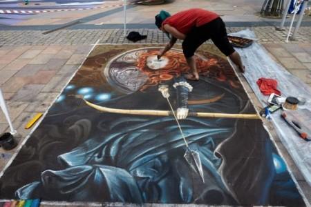 Bunte Kunst auf dem Berliner Platz..Foto: Stadt Gütersloh