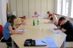 Präsentation der literarischen Werkstatt in der Mindener Stadtbibliothek dieses Mal online. Foto: Andrea Gerecke