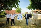 Wollen zukünftig gemeinsames Tourismusmarketing betreiben (von links): Björn Horstmeier (Espelkamp, stellvertretend für Heinrich Vieker), Michael Schweiß (Hille), Frank Haberbosch (Lübbecke), Kai Abruszat (Stemwede), Bernd Rührup (Hüllhorst), Dr. Bert Honsel (Rahden) und Marko Steiner (Preußisch Oldendorf).