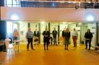 Im Rahmen einer Multiplikatorenschulung im MultiCult eigneten sich das Team bestehend aus Angelika Kudinow (Schulsozialarbeiterin), Dr. Manfred Borchert (Ehrenamtlicher), Peter Leppin (Ehrenamtlicher), Gabi Rohmann (Fortbildungsgeberin), Paul Donner (BFD), Elias Biermann (BFD), Latif Karacöl (Leiter MultiCult), Sarah Bröckling (Koordinierungsstelle für Flüchtlingsangelegenheiten), Josef Ernstberger (Ehrenamtlicher) und Sonja Chudalla (Schulsozialarbeiterin, v.l.) Wissen an, das die Beteiligten gerne im Rahmen der Führungen an Interessierte weitergeben. Foto: © Stadt Paderborn