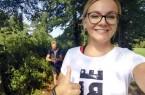 """Dabei sein ist alles: Mia Reckersdrees hatte Spaß am digitalen """"Stadtwerke run & roll day"""" und lief ihre Lieblingsrunde.Foto: Bielefeld Marketing"""