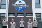 (v.l.): Die hauptamtlichen NLZ-Trainer Oliver Döking, Lukas Kruse, Michél Kniat, Bernd Wiesner und Thomas Bertels.
