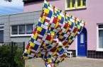 Kunst-Performance in der Innenstadt von Paderborn mit den Stoffskulpturen von Guda Koster und Frans van Tartwijk am 24. Oktober.Foto:© Stadt Paderborn