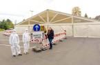 Testzentrum in Lemgo startet den Betrieb.Foto: Kreis Lippe