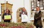 Feierabendmarkt am 20. Okotber 2020 von 16-20 Uhr in Brakel (v. links): Rainer Schäfers, Peter Frischemeier und Vera PrenzelFoto:Stadt Brakel