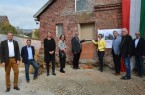 Grundsteinlegung an Haus Krus in Bellersen.Foto: Stadt Brakel