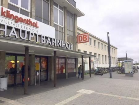 Ab dem 10. November können keine Fahrräder mehr in dem gewohnten Bereich direkt vor dem Paderborner Hauptbahnhof abgestellt werden, die Fahrradständer werden dann in den Bereich der Kurzzeitparkplätze verlagert.Foto: © Stadt Paderborn