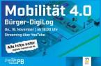 """Am Donnerstag, 19. November, findet der Bürger-DigiLog der Digitalen Heimat PB zum Thema """"Mobilität 4.0"""" statt. Interessierte Bürger*innen können sich um 18 Uhr den Livestream der Stadt Paderborn von zu Hause aus anschauen.Bild: © Stadt Paderborn"""