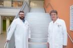Dr. Eckhard Sorges (rechts), Organisator der Ärzte-Fortbildungen am St. Ansgar Krankenhaus und Chefarzt für Kardiologie, und Kai Andreas Träger, Chefarzt für Gefäßchirurgie. Foto: KHWE