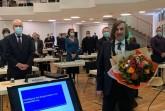 Der vereidigte Bürgermeister Norbert Morkes vor dem neuen Rat der Stadt Gütersloh.Foto:Stadt Gütersloh.