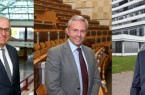 Zu Professoren des Universitätsklinikums OWL ernannt: Prof. Dr. Christian Bien, Prof. Dr. Michael Siniatchkin, Prof. Dr. Sebastian Rehberg (v.l.n.r.) Fotos: Manuel Bünemann