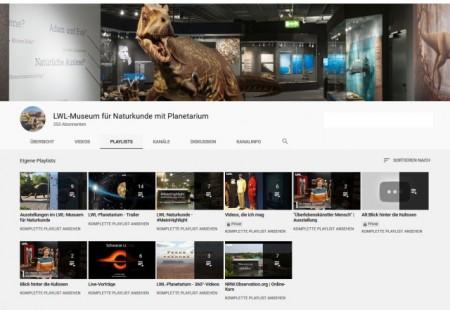 Über den YouTube-Kanal des Museums werden die Astronomischen Vorträge des Planetariums übertragen oder die 360-Grad-Videos angeboten. Foto: LWL