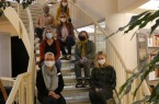 """Kick-off der Interviewphase: Das Design-Thinking-Team ist gespannt auf die Gespräche mit Güterslohern rund um das Thema """"Öffnungszeiten der Stadtbibliothek"""". Foto: Stadt Gütersloh"""