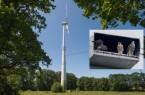 Foto: Heinz Mertineit - Wanderfalken an der Windkraftanlage