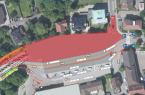 Geplante Verkehrsführung für die Dauer des ersten Bauabschnitts beim Neubau des Zentralen Omnibusbahnhofs (ZOB) am Niederwall, Foto: Stadt Lübbecke