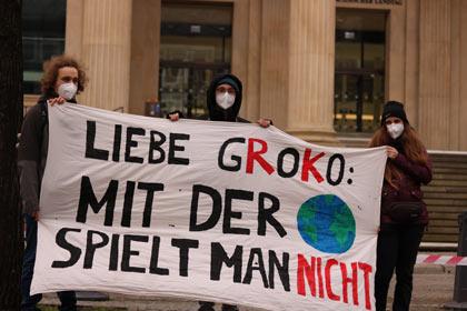 Aktivist:innen in Hannover. (Foto: Fridays for Future Deutschland)