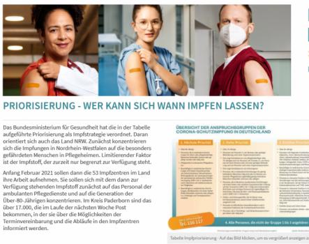 Foto: Ausschnitt der Impfseite des Kreises Paderborn, Foto: © Kreis Paderborn