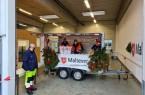 Nepthen: Die ehrenamtlichen Helferinnen und Helfer warten mit Volker Flor (Stadtbeauftragter), links, auf die Mahlzeiten-Abholer.