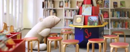 Bilderbuchbereich in der Bibliothek, Foto: Alex Lehn