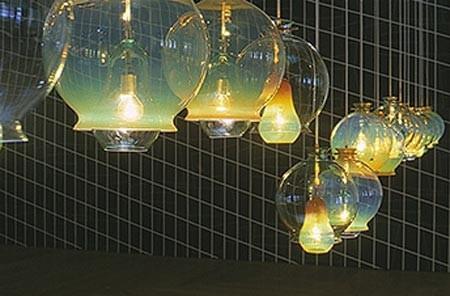 Jorge Pardo Untitled, 2000 glass, light bulb, fixture, light 21 lamps, each: 35 x ø 30 cm; overall dimensions variable