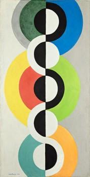 Robert Delaunay Rhythme sans fin, 1934 Öl auf Papier, später auf Karton aufgezogen 200 x 99,5 cm Foto: Philipp Ottendörfer