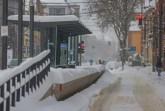 Die Haltestelle in der Marktstraße ist zugeschneit. Foto: Sarah Jonek
