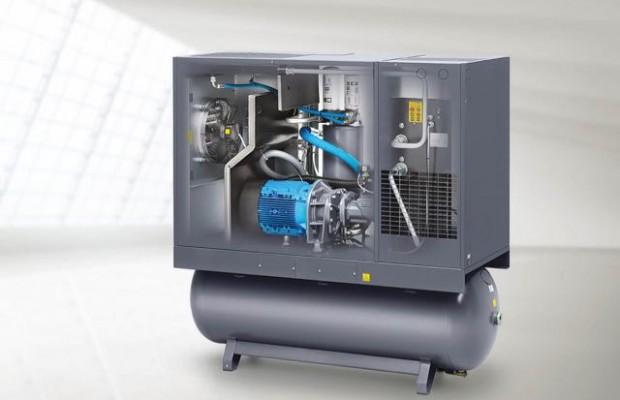 Oltrogge bietet Druckluft-Lösungen für alle Größenordnungen: Eine Kompaktanlage, inklusive Filter, Trockner und Kondensat-Aufbereitung ist in verschiedenen Größen auf Mietbasis erhältlich (Bildnachweis: Oltrogge / © Atlas Copco).