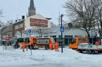 Schneeräumer im Dauereinsatz. Das ist zurzeit der Alltag bei der Stadtreinigung. (Bild: Miguel Loureiro für Stadt Gütersloh)