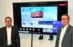 Virtuelles Gespräch zum Warenverkehr nach Großbritannien: Jens Heckeroth, IHK-Referent International, und Harald Grefe, stellvertretender IHK-Hauptgeschäftsführer, tauschten sich dabei mit zahleichen Unternehmensvertreterinnen und –vertretern über die aufwendige Bürokratie aus.  Foto: IHK